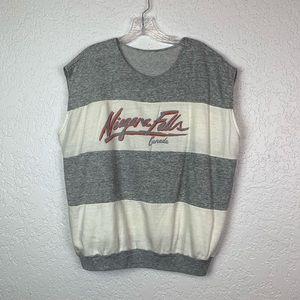 Vintage Niagara Falls Canada striped sweatshirt XL